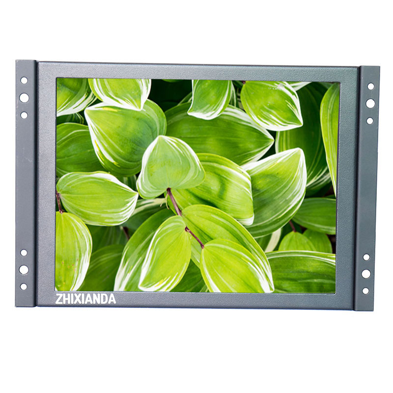 10 Inch Industrial Monitor 800*600 Open Frame Embedded LCD Monitor 4:3 Screen Ratio Black Color With AV/BNC/VGA/HDMI/USB input zgynk 12 inch open industrial embedded monitoring metal shell vga av bnc hdmi security lcd the monitor