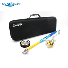 NEW 1.8M 2.1M 2.4M 2.7M 3.0M Telescopic Fishing Rod Spinning Reels line Combo Full Kit Spinning Reel Pole Set Fishing bag