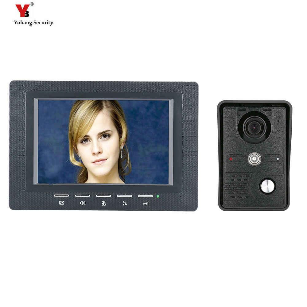 """Wideodomofon system telefoniczny 7 """"Clear LCD Monitor przewodowy zestaw wideo domofon kamera noktowizyjna w stylu słuchawki telefonu użytku domowego"""