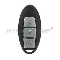 SUV Akıllı Anahtar 3 Düğme 433.9 mhz ile Nissan Qashqai X-Trail için Key Insert Remtekey Akıllı Uzaktan Araba anahtar Shell Kılıf
