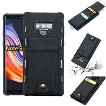 Кожаный чехол кошелек для samsung note 9 с отделением кредитных