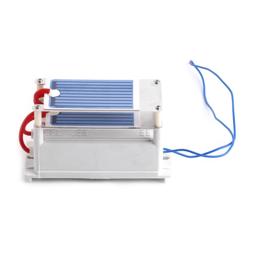 Acheter Portable 7 g/h Céramique Générateur D'ozone 220 V/110 V 10g Double Intégré Longue Vie En Céramique Plaque Ozoneur Air Eau Purificateur D'air de Purificateurs d'air fiable fournisseurs