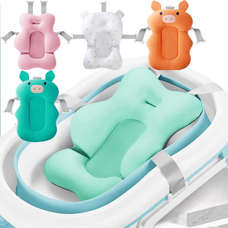 Переносная воздушная подушка для новорожденных, детский коврик для ванной, нескользящий коврик для ванной, складное безопасное сиденье для купания