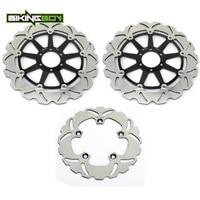 BIKINGBOY Front Rear Brake Discs Disks Rotors For APRILIA RSV 1000 / Mile Version RSV 1000 R 00 09 SP 99 00 RSV4 1000 RR 15 17