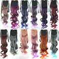 Fashion Ribbon Ponytail Hairpieces Synthetic Ponytail Hair Tail Clip in Hair Extensions Drawstring Ponytail Wigs Hair 12Colors