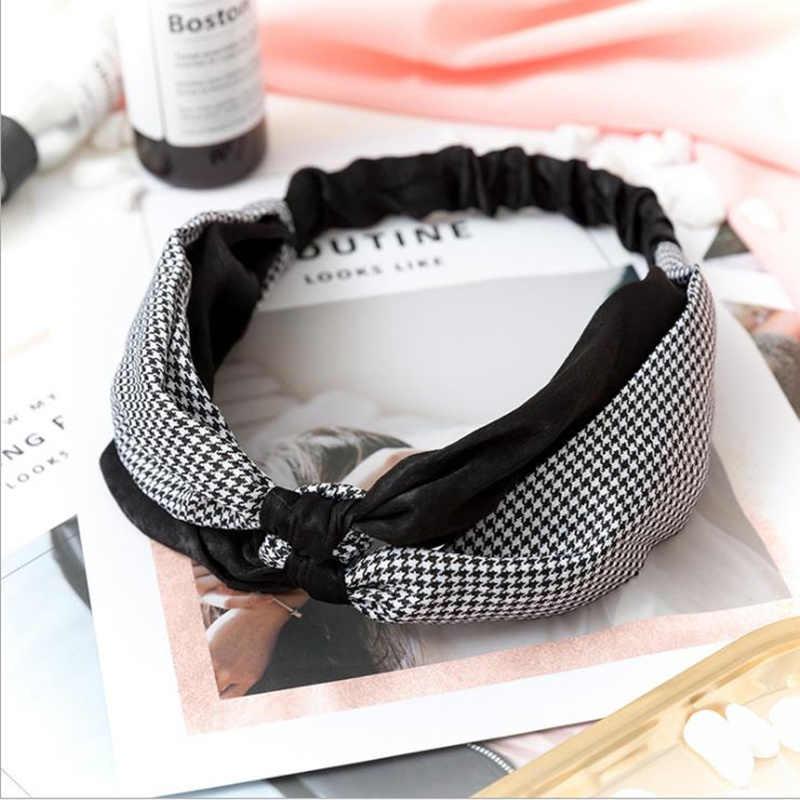 Korean Style Summer Lovely Hairband Women Hair Accessories Turban Twist Cross Headwrap Girl Floral Elastic Knotted Headwear