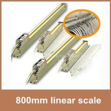 """Envío de la Alta Precisión escala lineal 0.005mm/0.0002 """"5 V TTL transductor lineal 800mm para digital escala lineal de la máquina CNC"""