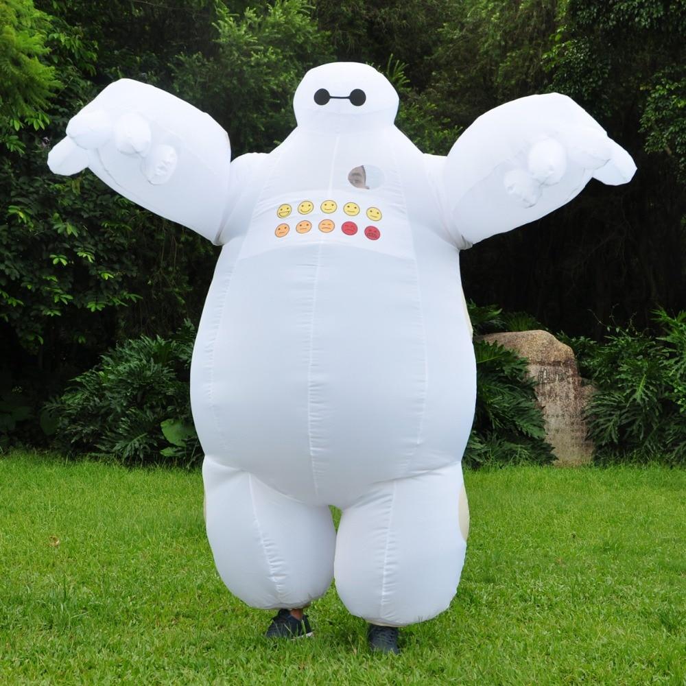 Baymax Adulto Traje Inflável Branco Grande Herói Cosplay Roupas Carton Personagens Mascote Fancy Dress Halloween Chrismas Purim