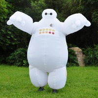 VIP FASHION 2019 Halloween Inflatable Costume Big Hero 6 Baymax Party Cosplay Costume For Adult Mascot Fancy Party Clothes