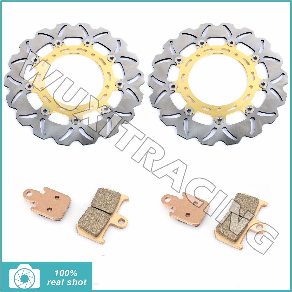 310MM Pair Motorcycle Front Brake Discs Rotors Pads fit for YAMAHA YZF R1 6 Piston caliper 2007 2008 2009 2010 2011 2012 2013 14 перфоратор makita hr2460