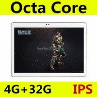 10 pulgadas MTK8752 Octa Core Tablet PC smartphone 1280x800 HD 4 GB RAM 32 GB ROM Wifi 3G WCDMA Mini android 5.1 GPS FM tablet + Regalos