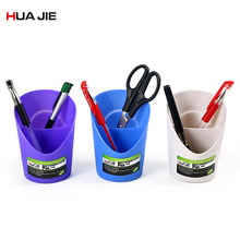 Creative Fashion Pen Holder Office Organizer Round Pen Pencil Holder Stationery Storage Box Gift Desktop Simple Pen Holder H269 1 pc pencil shaped pen stand holders for students plastic dest stationery holder cartoon creative pen holder
