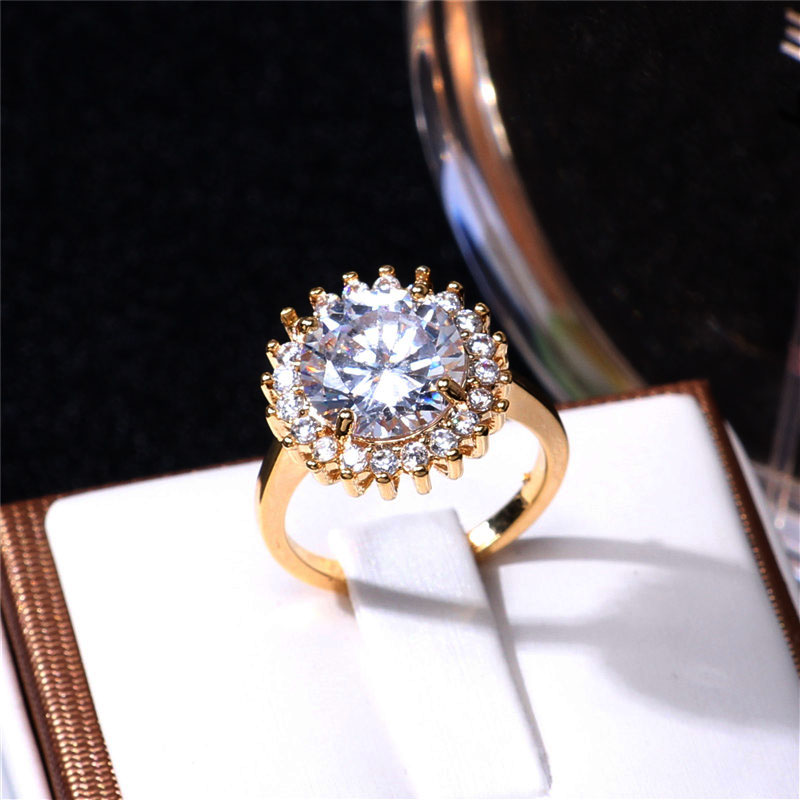 Princess Diana Wedding Ring.Aliexpress Com Buy Luxury British Kate Princess Diana William Engagement Ring With Real Plate Crystal Wedding Rings For Women From Reliable