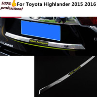Car Body Styling Cover Detector ABS Rear Door Tailgate Frame License Plate Trunk Trim Lamp 1pcs