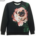Newsosoo brand youth fashion sweatshirt men funny style flower and pug 3D hoodies men and women pullover hoodies  XS1