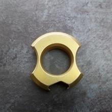 Brass EDC multi-tool, outdoor camping travel tactics with bottle opener, key ring pendant. Window breaker