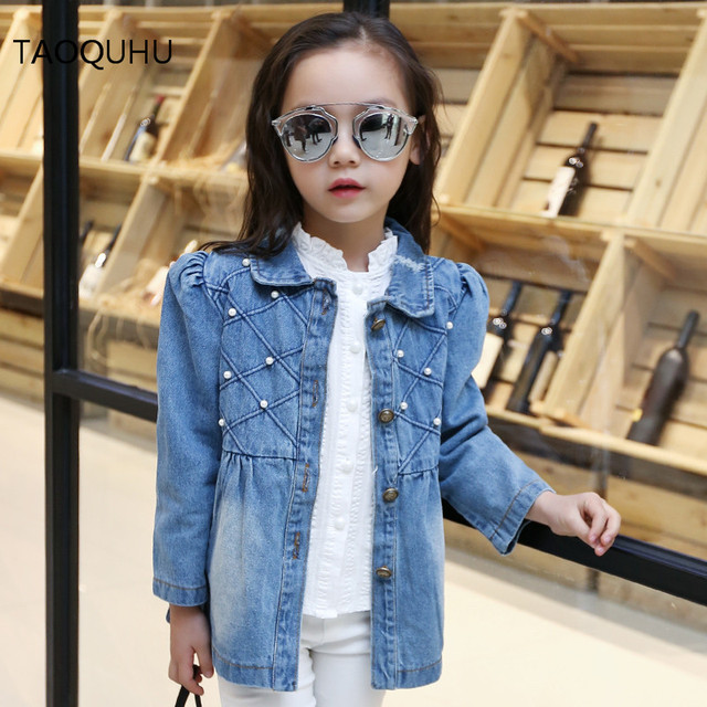 Spring Clothing Girls Kids Denim Jacket Denim Jacket Casual Fashion Cotton Outerwear Fit 2 9 Year Old Girl 2016 New Sale