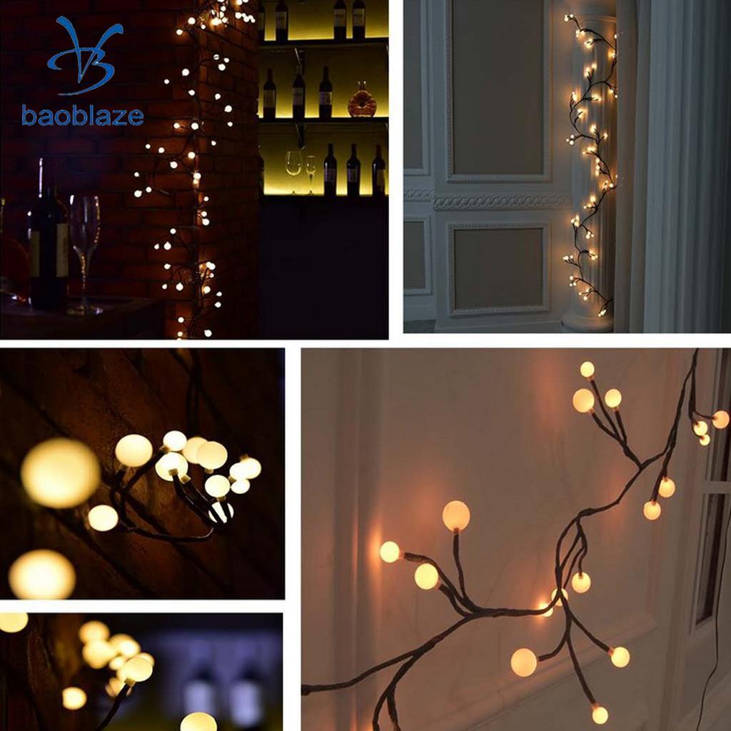 5m 50LED Fairy String Lights Home Festival Party Decor Lighting Warm White