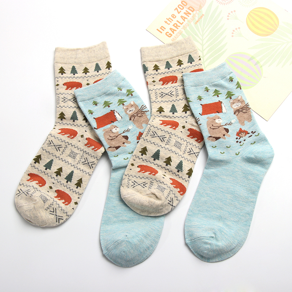 2pair 2018 Autumn Cute socks women Christmas gift box cotton Socks ...