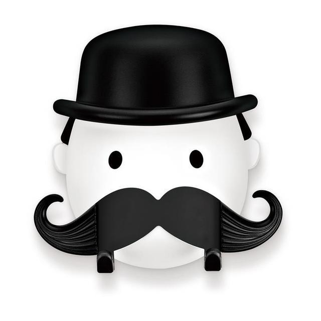 Bathroom Funny Moustache Plastic Shaver Storage Holder