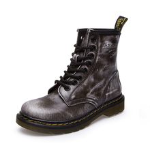 Vintage Genuine Leather Boots Lace-up Martin Boots Real Leather Shoes Men $ Women Motorcycle Snow Shoes Cotton Padded XX06234