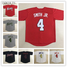 NC State Wolfpack 4 Dennis Smith JR. College Baseball Jerseys All Stitched  Team Red White · 5 Colors Available a4871193e