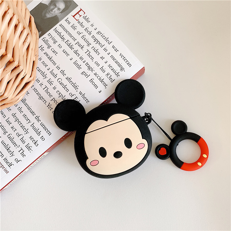Image 4 - 3D cartoon Mickey Minnie Mouse Soft Silicone Earphone Case For Apple AirPods 1 2 Protection Wireless Bluetooth Headset Cover-in Earphone Accessories from Consumer Electronics