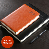 2019 25K high quality portable notebook thick leather business efficiency 16K simple female creative hand book calendar notebook