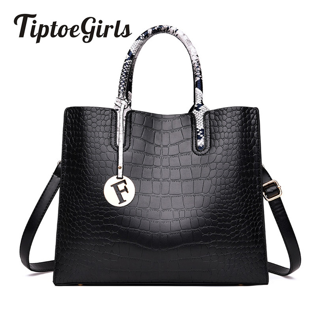 Temperament Crocodile Pattern Ladies Handbag New Fashion Large Capacity Casual Wild Shoulder Messenger Bag