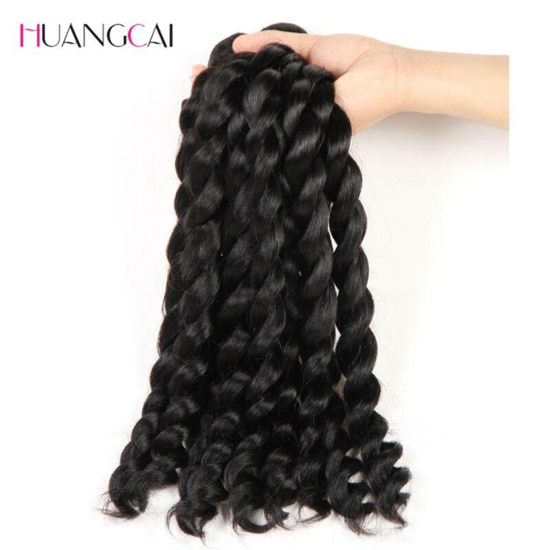 Français torsion cheveux brésiliens tisse 3 faisceaux 100% Extensions de cheveux humains Meches Bresilienne 3 Pcs/lot Huangcai - 3