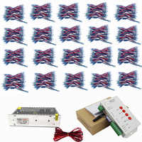 1000pcs WS2811 led Pixel Module 12mm IP68 RGB diffused addressable for letter sign DC 5V + T1000S Controller + Power adapter