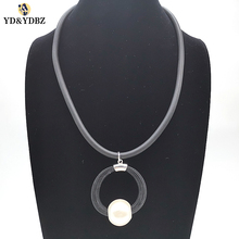 YD&YDBZ New Long Necklace Fashion Black Choker For Women Pendant Clothing Accessories Hanging Party Punk Style