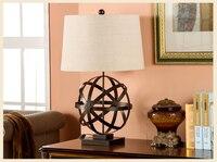 Современные Ретро Металл Hollown мяч настольная лампа для Спальня Abajur Лампе де чевет де Chambre Lampara luminaria де меса Книги по искусству deco