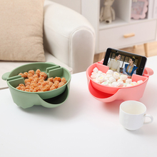 HS040 Multifunctional Double fruit bowl household plate modern fashion creative PP dry basket 21.5*20*7cm