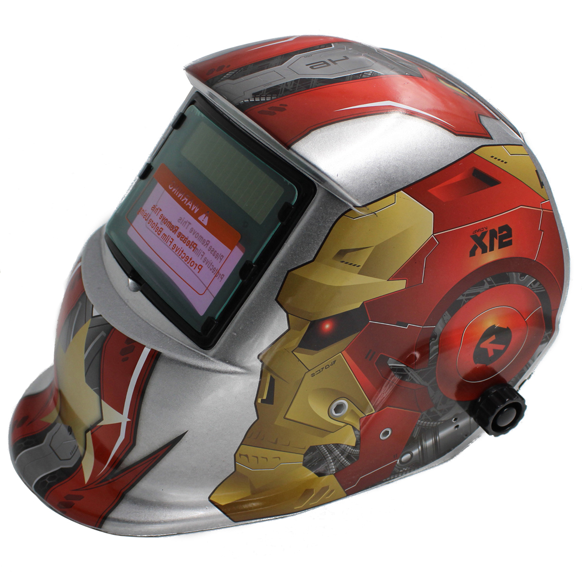 Mayitr Welding Helmet Super Solar Auto Darkening Electric Grinding Welding Mask Protective Welder Cap Welding Lens Machine red standard design solar welding helmet auto darkening electric grinding welding face mask welder cap lens cobwebs and skull