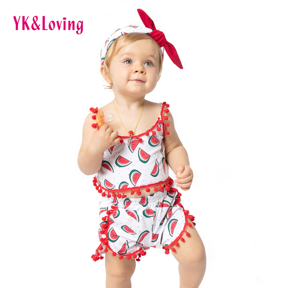 Summer Baby Girl Clothing Set Kids 1 4 T Cartoon ...