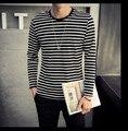 Para hombre de Manga Larga Camiseta 2016 de La Marca de Moda Nueva Despojado Tops Tees Más El Tamaño 5XL 4XL Camiseta Homme Camiset