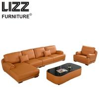 Corner Sofas Loveseat Leather Sofa Chair Sofa Para Sala Living Room Luxury Furniture Classic Miami Design