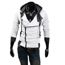 Mens Korean Long Sleeve Hoodies SweatshirtHot Sale ! New Assassins Creed Hoodie Slim Fit Zip Hoodie Jacket MAPP04216