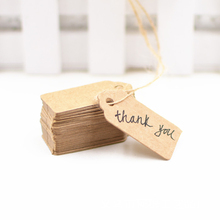 100Pcs Kraft Paper Tags Scallop Head Label Luggage Wedding Note DIY Blank Price Name Hang Tag Gift Craft  Hand-painted card