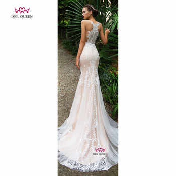 Delicate Embroidery Wedding Dress 2020 New Court Train Mermaid Wedding Dresses Champagne Illusion Unique Back Design Sexy w0587