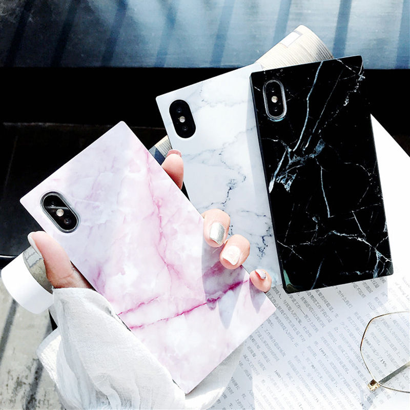 Marble Texture Pattern Phone Cases For iPhone 8 Plus Glossy Soft TPU Silicone Case For iPhone X 8 7 6S 6 Plus Back Cover Coque