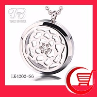 316L Stainless Steel Diffuser Locket Aromatherapy Perfume Lockets 30mm Round