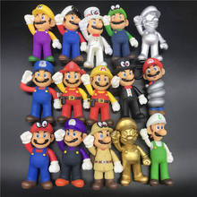 13cm Super Mario Model dolls Toy Figures Bros Bowser Toys Luigi Koopa Yoshi Maker Odyssey PVC Action Figure