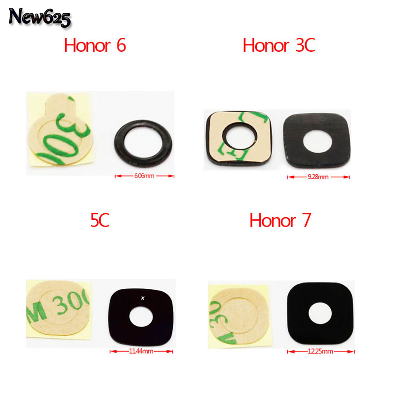 2 Pcs/Lot, For Huawei P6 P7 Honor 6 /Honor 7 /Honor 3C 4X 4C 5C G8 G510 P8 Max Y511 U9508 Camera Glass Lens +Adhensive Sticker