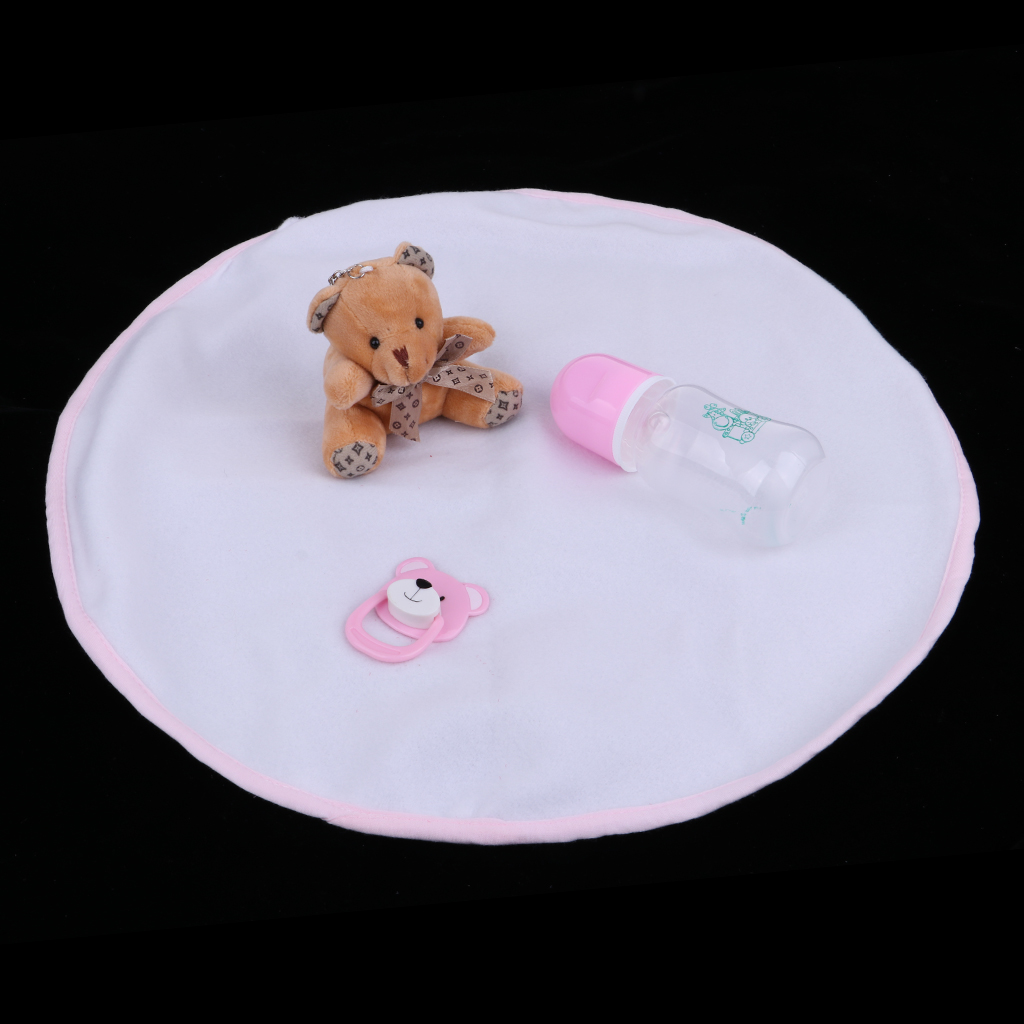 22inch Halloween Costume Reborn Doll Soft Silicone Baby Doll with Clothes, Pacifier, Bottle, Carpet and Mini Bear Toy #1