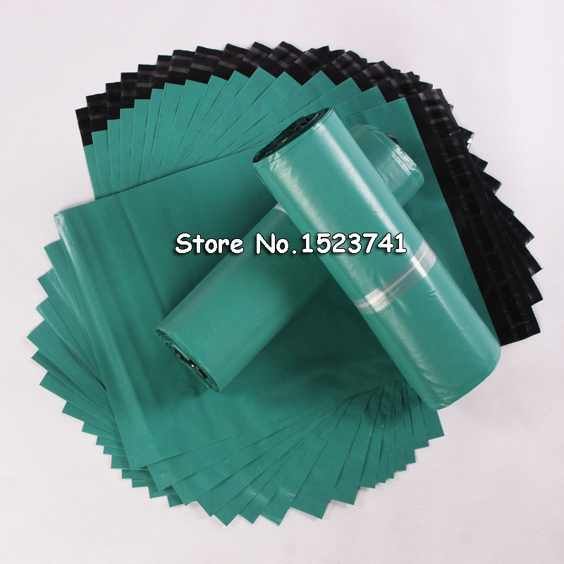 100pcs/lot Green  Envelopes Poly Mailer BY Mail Plastic Mailing Bags Envelope Hight quality 17*30cm-in Paper Envelopes from Office & School Supplies