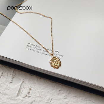 46e151487d76 Peri sBox Color oro pequeña luna estrella colgante collares gargantilla de  Plata de Ley 925 Oval moneda gargantillas collares Boho capas gargantilla