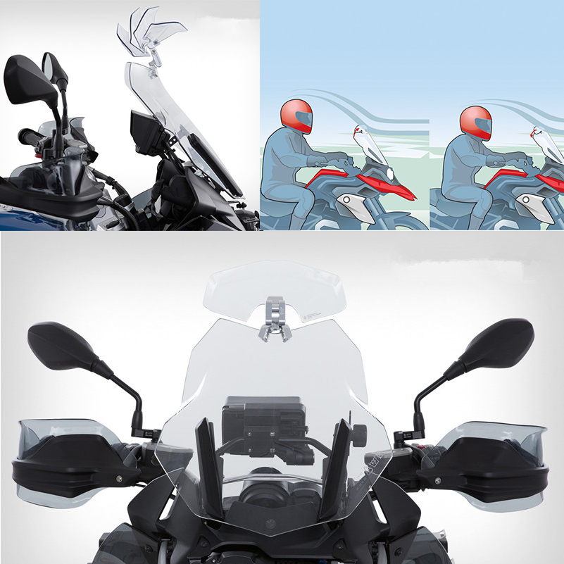 Windshield Deflectors Glass for BMW R1200GS LC Adventure 2014 to 2019 R1250GS GSA Accessories Extension Windscreen