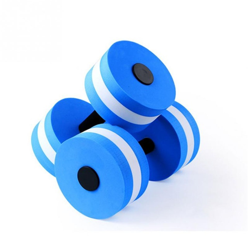1 Pcs Pool Accessories EVA Water Foam Floating Dumbbell Swimming Pool Water Weight Aerobics Automatic Float Aquatic Barbell Toy